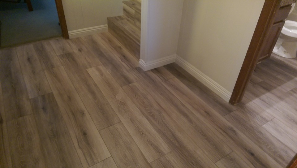 Laminate Flooring with MDF Base Boards