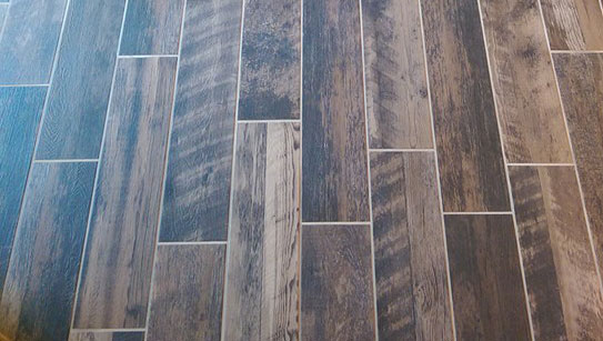 Porcelain Plank Tile Reclaimed Wood Look