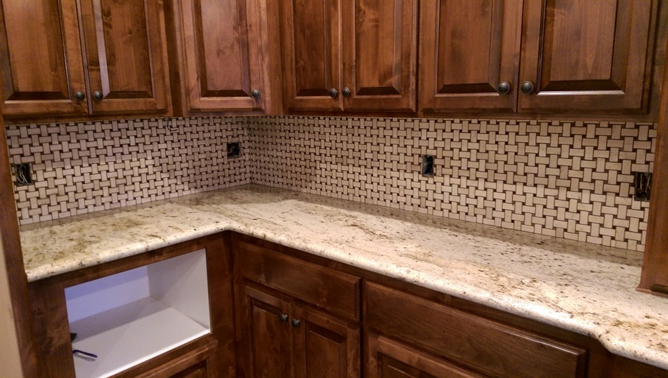 Travertine Mosaic Back Splash