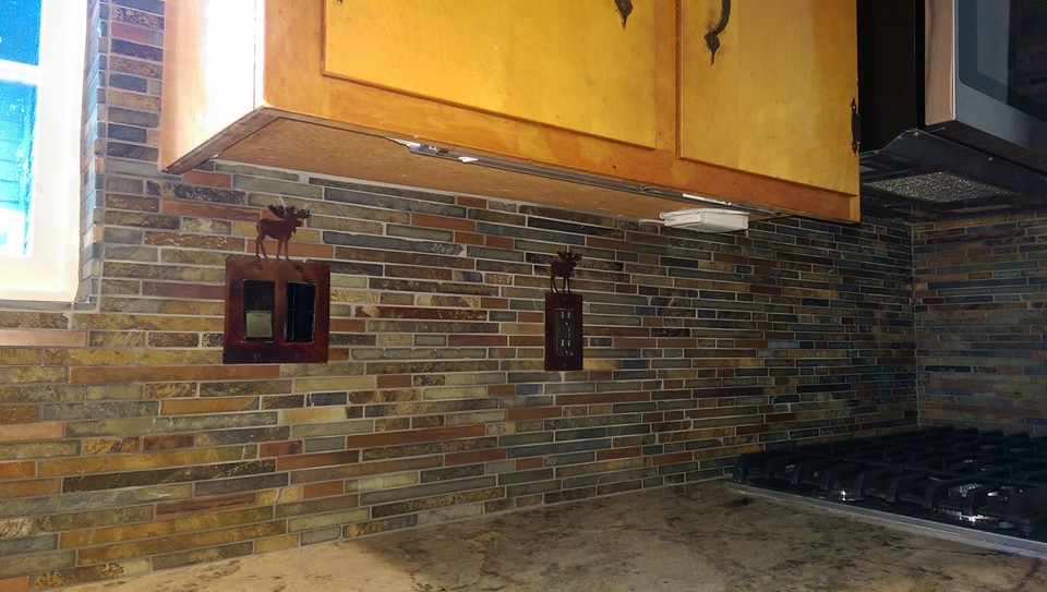 Slate Mosaic Back Splash