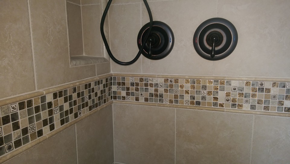 Porcelian Tile Shower