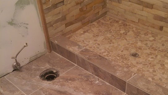 Stack Stone Walk-In Shower